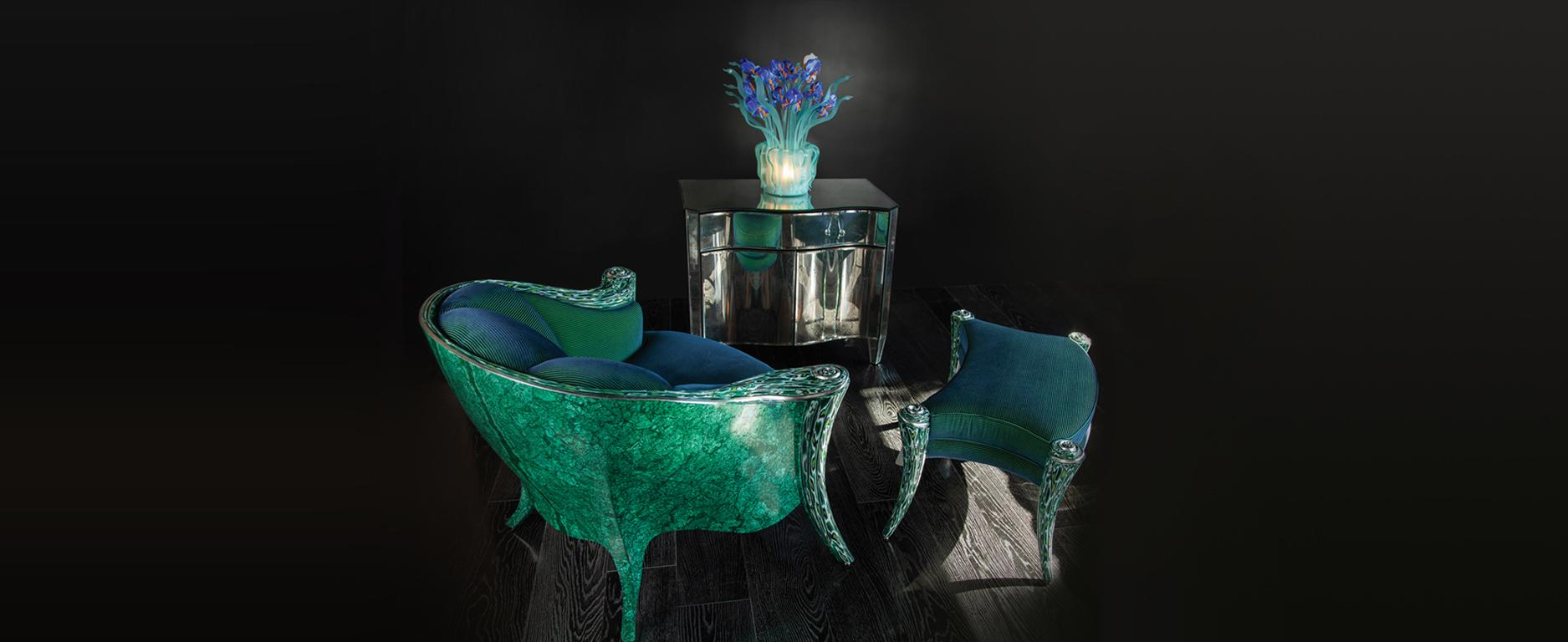 Showroom - Furniture - Armchairs - Opus Futura Malachite - B. David Levine