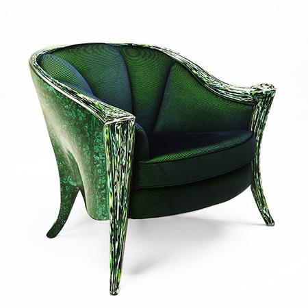Showroom - Furniture - Armchairs - Opus Futura Malachite