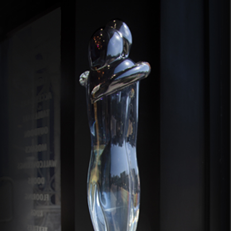 Showroom - Accessories - Objet d'art - Embracing Lovers Northern Light Fading to Crystal