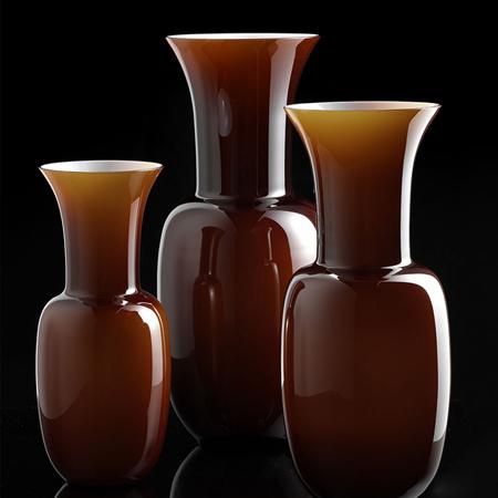 Showroom - Accessories - Vases - Vaso Opalino Caramello