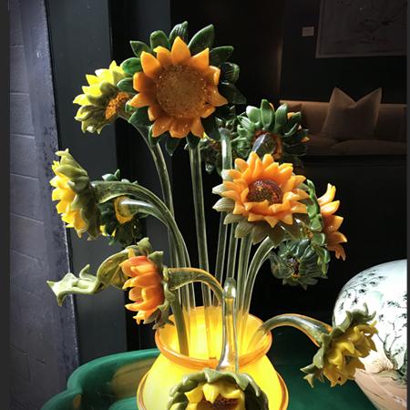 Showroom - Lighting - Table Lamps - Van Gogh Sunflowers Table Lamp