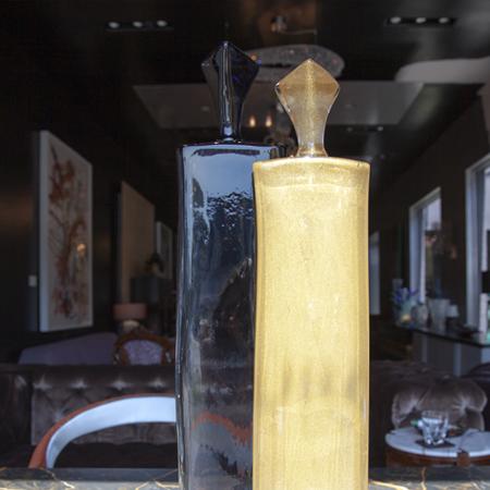 Showroom - Accessories - Objet d'art - Northern Lights & Gold Figures on Black Base