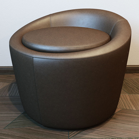 Showroom - Furniture - Poufs and Ottomans - Loren Pouf