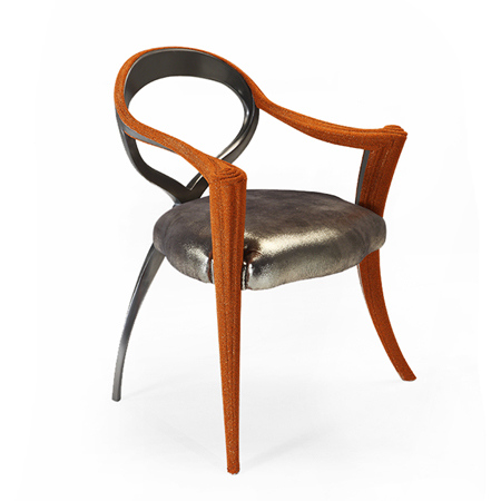 Showroom - Furniture - Armchairs - Opus Metallica Caviar